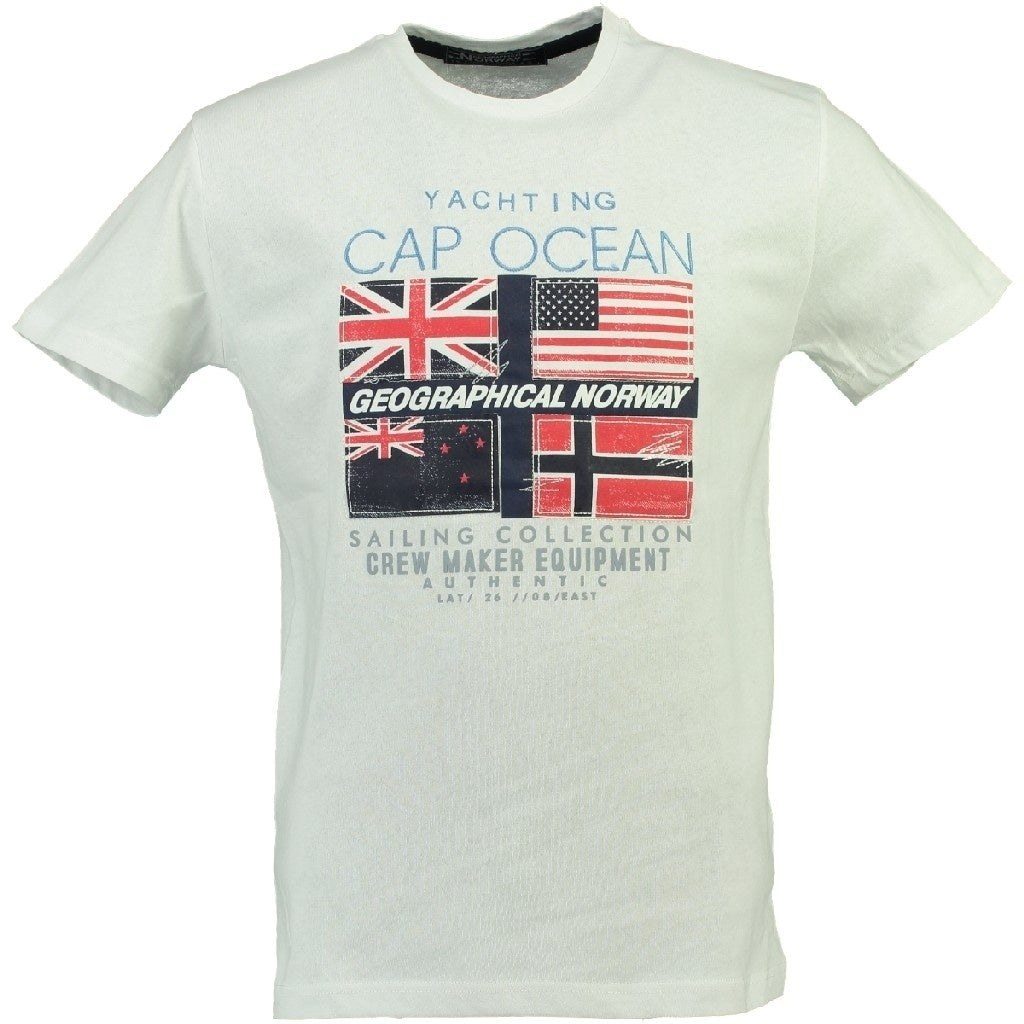 GEOGRAPHICAL NORWAY T-shirt Herre JIMARE - White