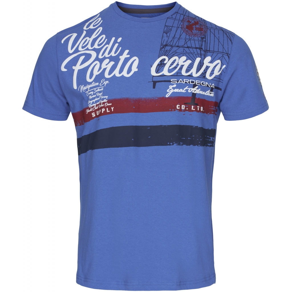 GEOGRAPHICAL NORWAY T-shirt Herre JINGSLEY ROYAL BLUE - Royal Blue