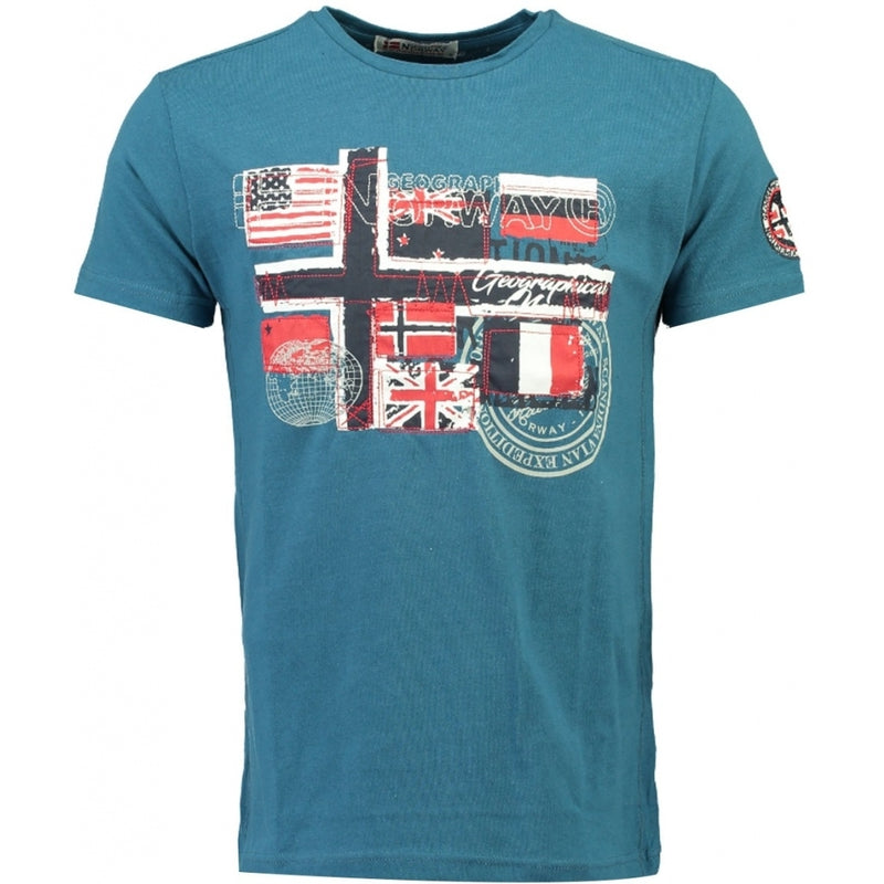 Geographical Norway GEOGRAPHICAL NORWAY T-shirt Herre JOFLAG T-shirt Blue