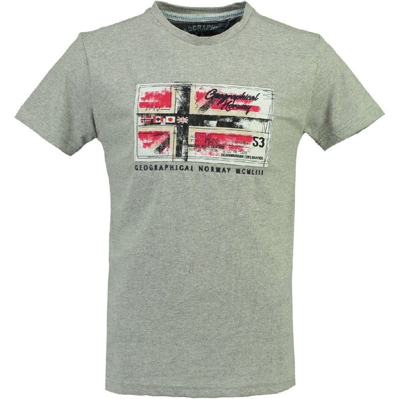Geographical Norway GEOGRAPHICAL NORWAY T-shirt Herre JORGE T-shirt Grey