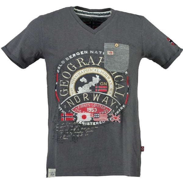 Geographical Norway Geographical Norway T-shirt Jignac T-shirt D.Grey