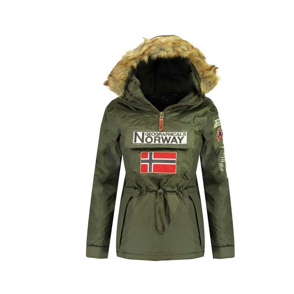 Geographical Norway GEOGRAPHICAL NORWAY vinterjakke Anorak Dame Bridget Winter jacket Khaki