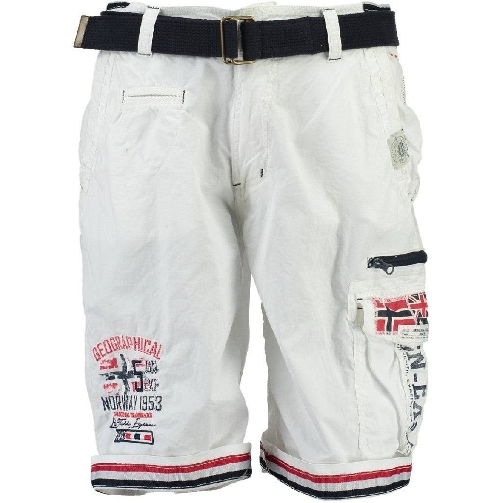 GEOGRAPHICAL NORWAY Shorts Herre PACOME - White