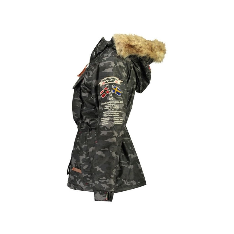 Geographical Norway Geographical Norway Anorak Vinterjakke Dame BOOMERA CAMO Winter jacket Black