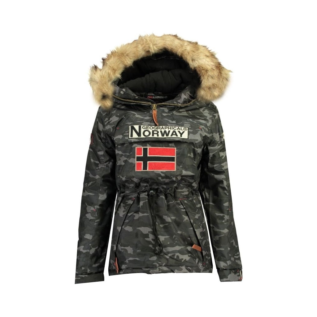 Image of   GEOGRAPHICAL NORWAY Anorak Vinterjakke Skijakke Dame BOOMERA CAMO - Black - XL