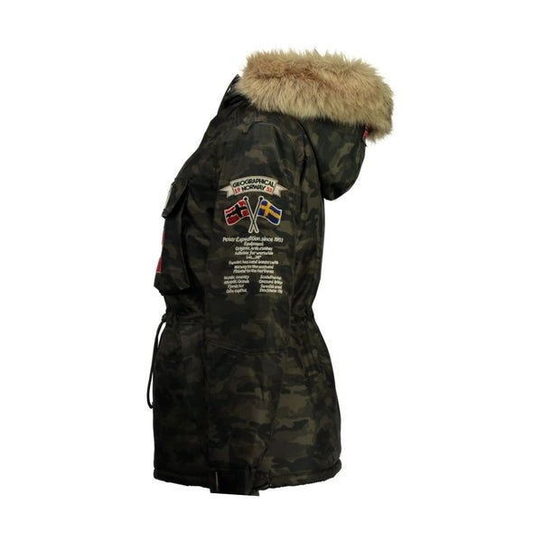 Geographical Norway Geographical Norway Anorak Vinterjakke Dame BOOMERA CAMO Winter jacket Khaki