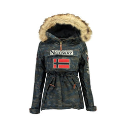 Geographical Norway Geographical Norway Anorak Vinterjakke Dame BOOMERA CAMO Winter jacket Navy