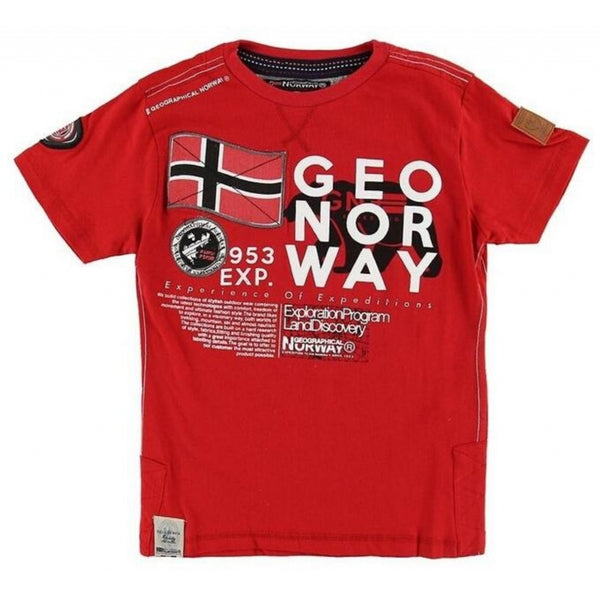 Geographical Norway Geographical Norway Børn Tee Jasado T-shirt Red