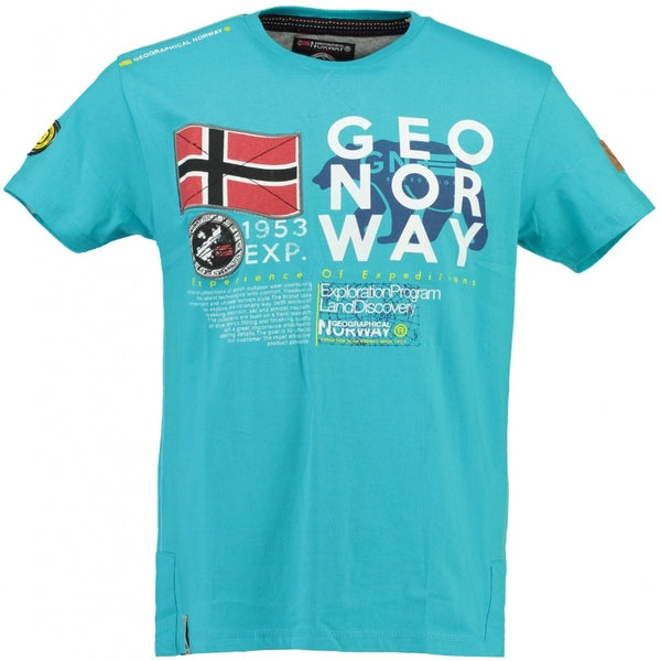 Geographical Norway Geographical Norway Børn Tee Jasado T-shirt Turkis