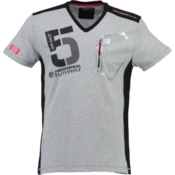 Geographical Norway Geographical Norway Børn Tee Javiar T-shirt Grey