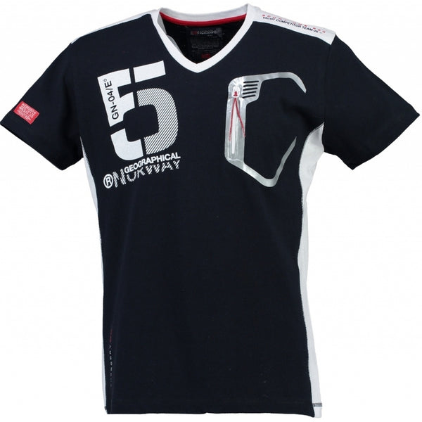 Geographical Norway Geographical Norway Børn Tee Javiar T-shirt Navy