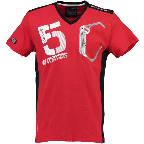 Geographical Norway Geographical Norway Børn Tee Javiar T-shirt Red