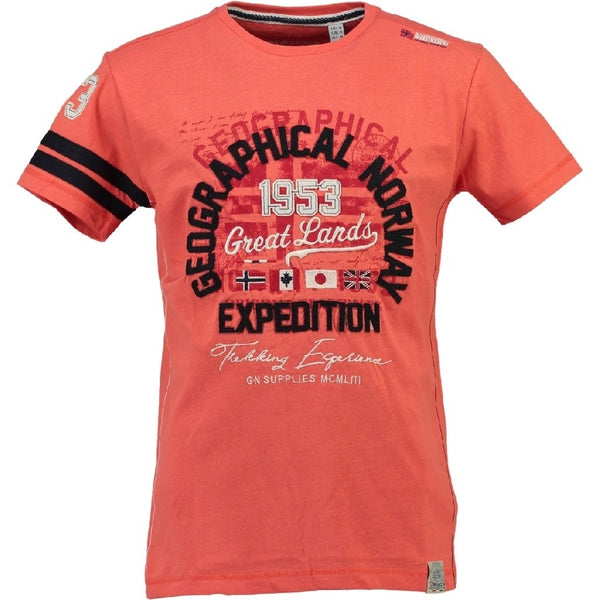 Geographical Norway Geographical Norway Børne Tee Jatelier T-shirt Coral