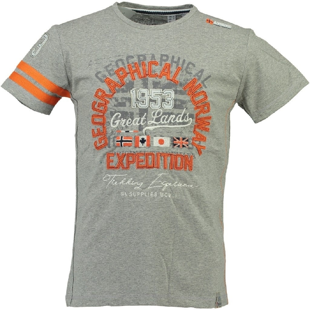 Image of   Geographical Norway Børne Tee Jatelier - Grey - 10Y