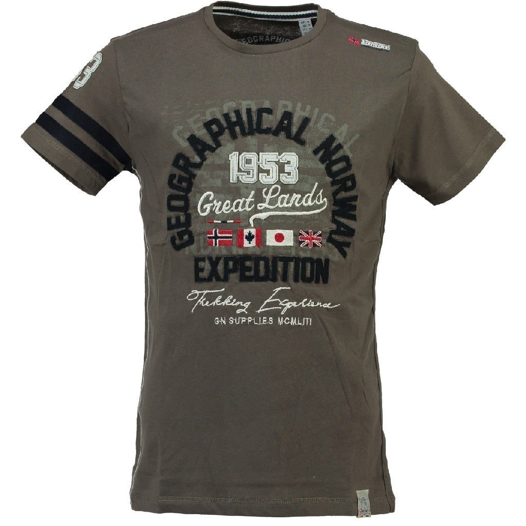 Image of   Geographical Norway Børne Tee Jatelier - Khaki - 10Y