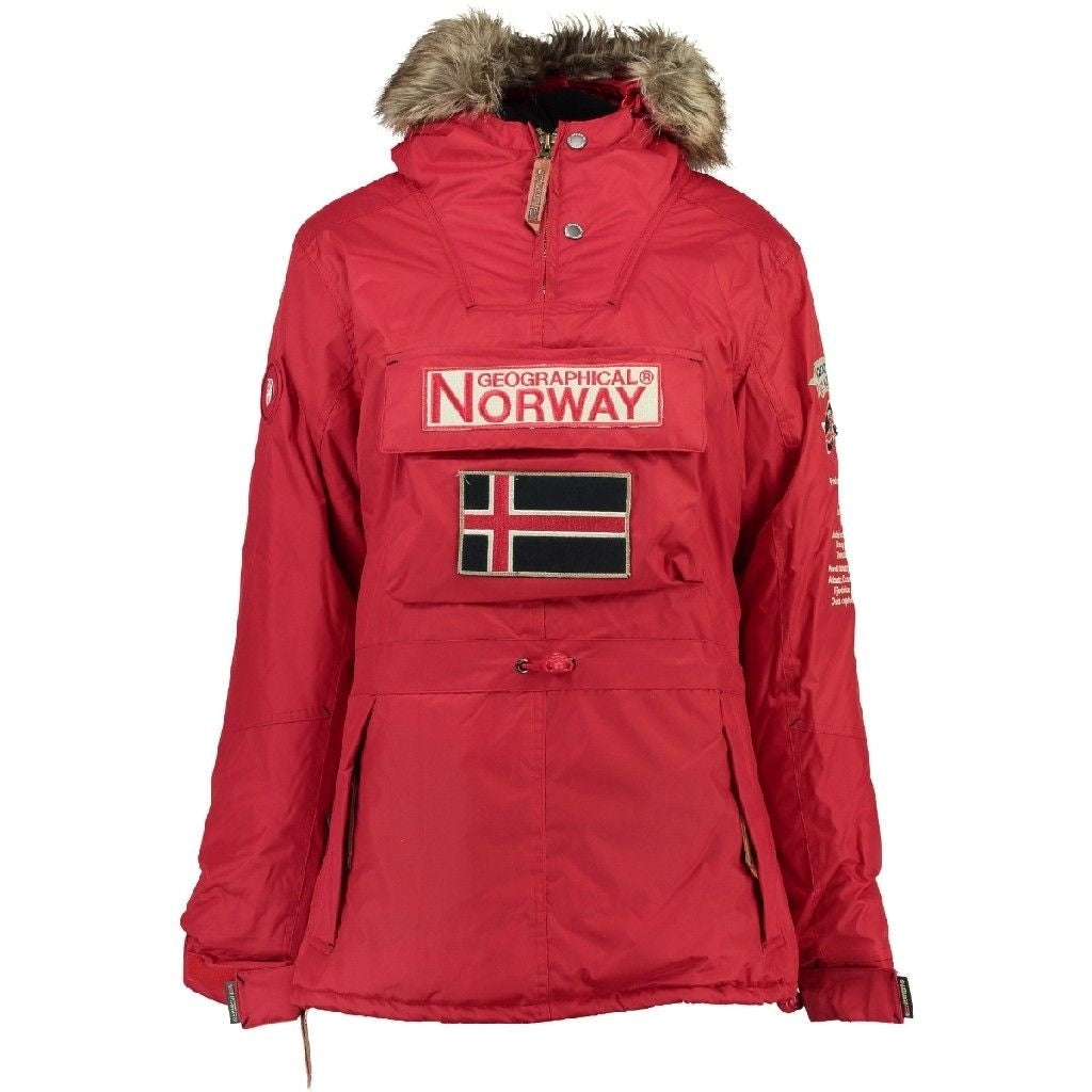 Image of   Geographical Norway Dame Anorak Vinterjakke Boomera - Red - L