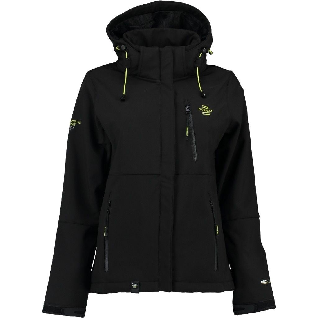 Image of   Geographical Norway Dame Softshell Jakke Touna - Black - M
