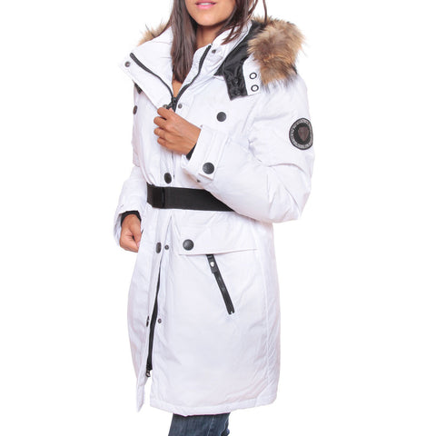 Geographical Norway Dame Vinterjakke Acaba - White
