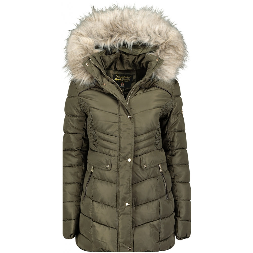 Image of   Geographical Norway Dame Vinterjakke Badonna - Khaki - L