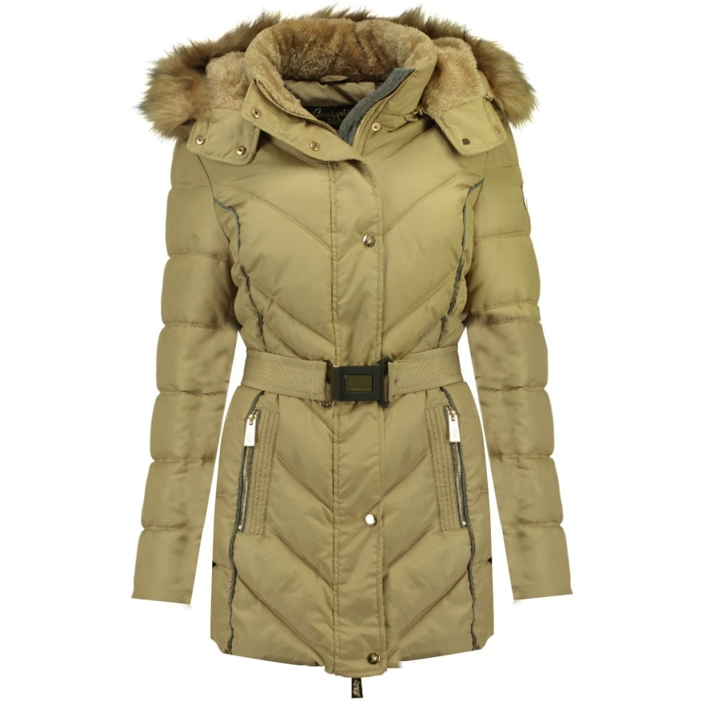 Image of   Geographical Norway Dame Vinterjakke Becky - Beige - L