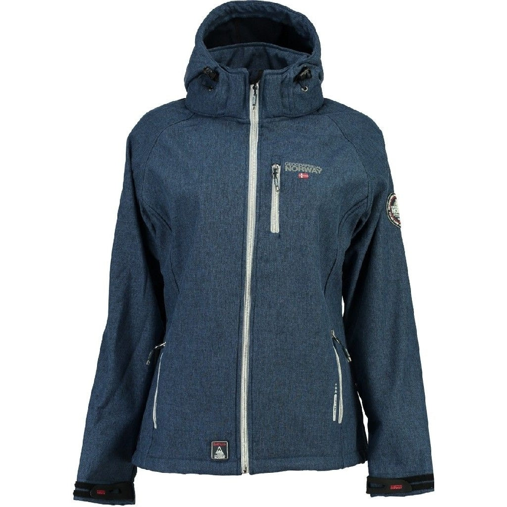 Image of   Geographical Norway Dame Softshell Jakke Tassima - Blue - XL