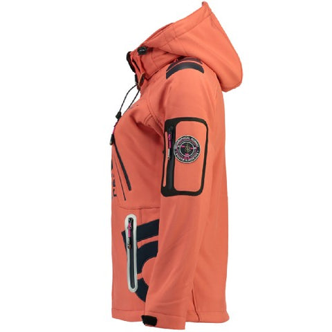 Geographical Norway Dame Softshell Jakke Tibiscuit - Coral