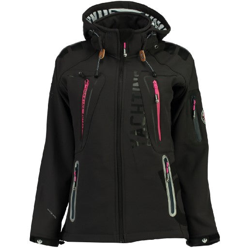 Image of   Geographical Norway Dame Softshell Jakke Tibiscuit - D.Grey - S