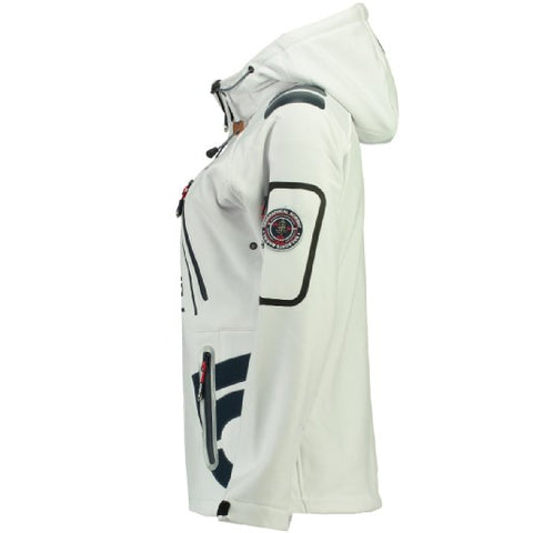 Geographical Norway Dame Softshell Jakke Tibiscuit - White