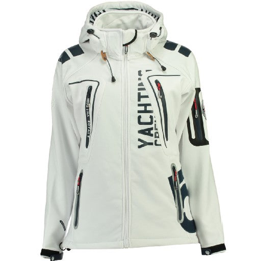 Image of   Geographical Norway Dame Softshell Jakke Tibiscuit - White