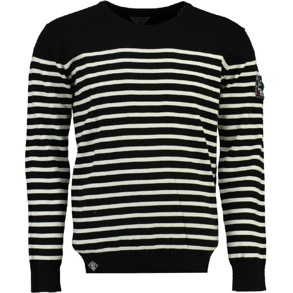 Geographical Norway Geographical Norway Strik Herre FRONTAL Knit Black - White