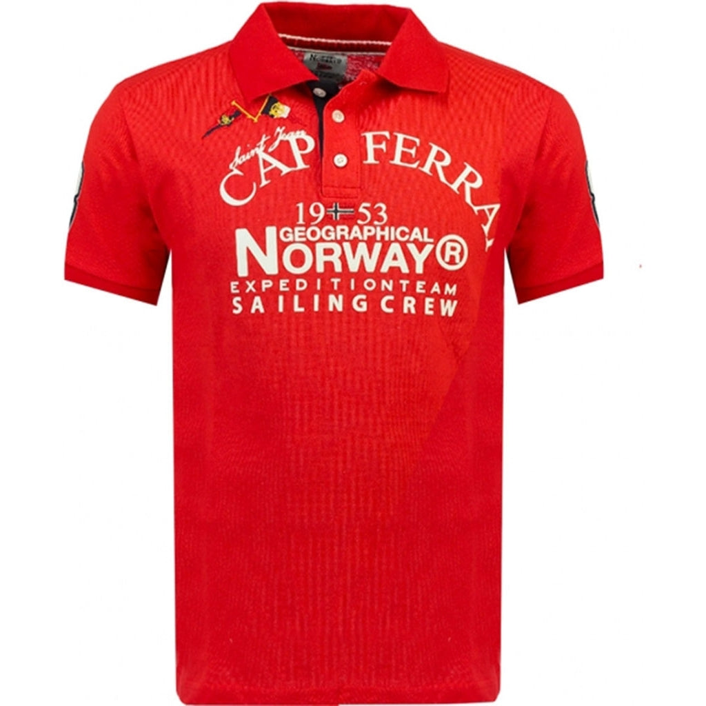 Geographical Norway herre polo Korsail - Red