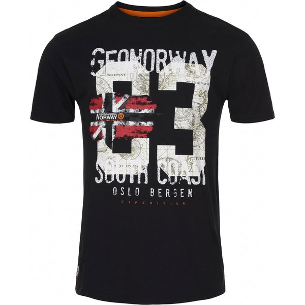 Geographical Norway Geographical Norway herre tee jalapo T-shirt Black