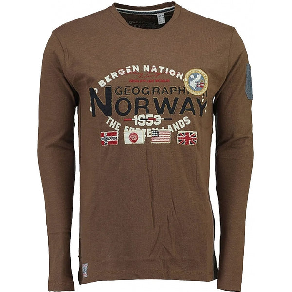Geographical Norway Geographical Norway langærmet tee jarbone LS Tee Brown