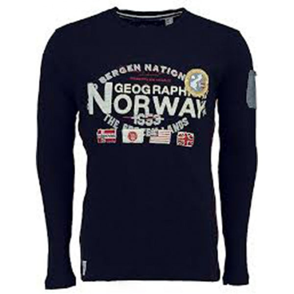 Geographical Norway Geographical Norway langærmet tee jarbone LS Tee Navy