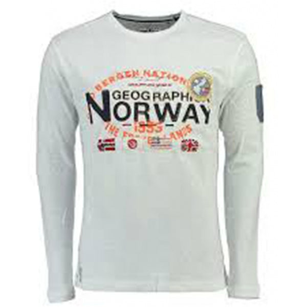 Geographical Norway Geographical Norway langærmet tee jarbone LS Tee White