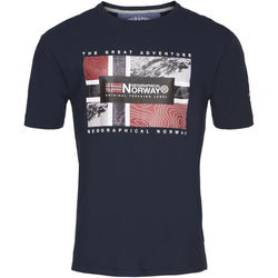 Geographical Norway Geographival Norway herre tee jeologic T-shirt Navy