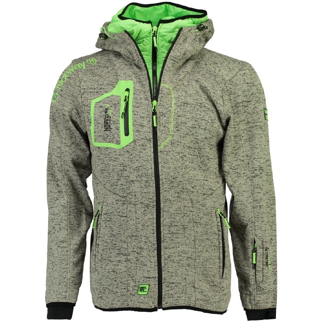 Image of   Fleecetrøje Herre GEOGRAPHICAL NORWAY URSIN - Grey/Green - L