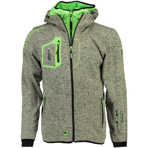 Geographical Norway Fleecetrøje Herre GEOGRAPHICAL NORWAY  URSIN Fleece Grey/Green