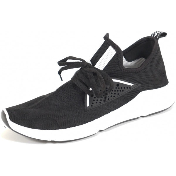 Tex-Time Herre Sneakers Strib Foran Shoes Black