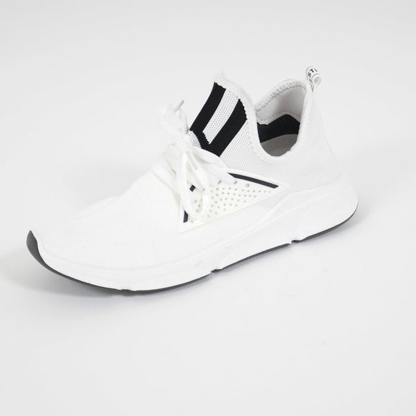 Tex-Time Herre Sneakers Strib Foran Shoes White