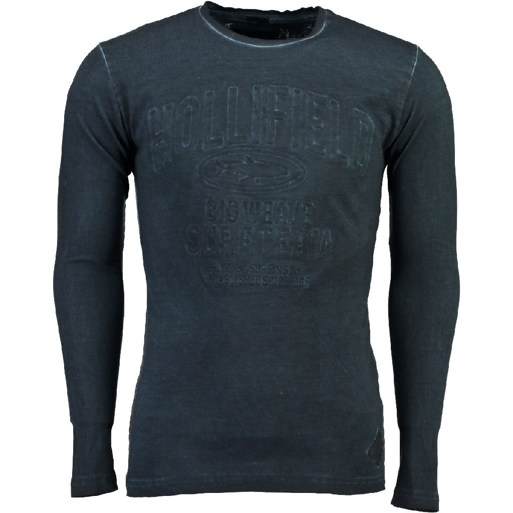 Image of   Hollifield Langærmet tee Jurfield - Navy - S