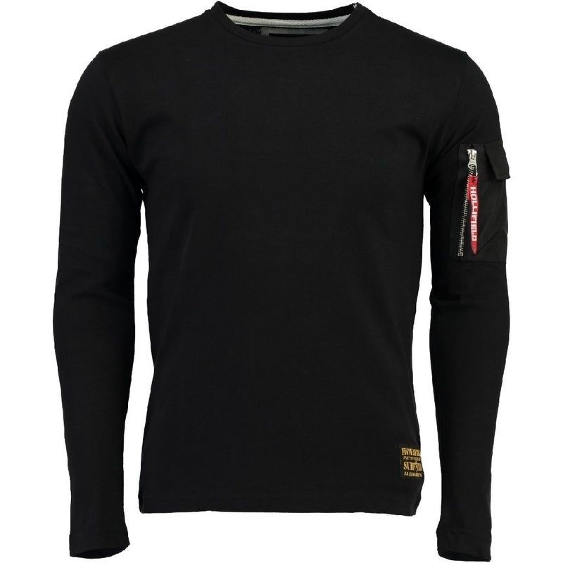 Geographical Norway Hollifield langærmet tee Jatria LS Tee Black