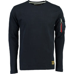 Geographical Norway Hollifield langærmet tee Jatria LS Tee Navy