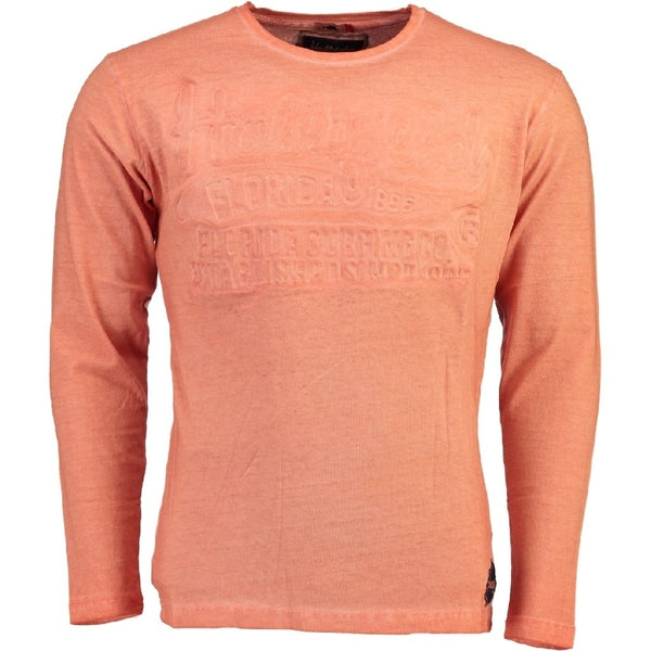 Geographical Norway Hollifield langærmet tee jaridirty LS Tee Coral
