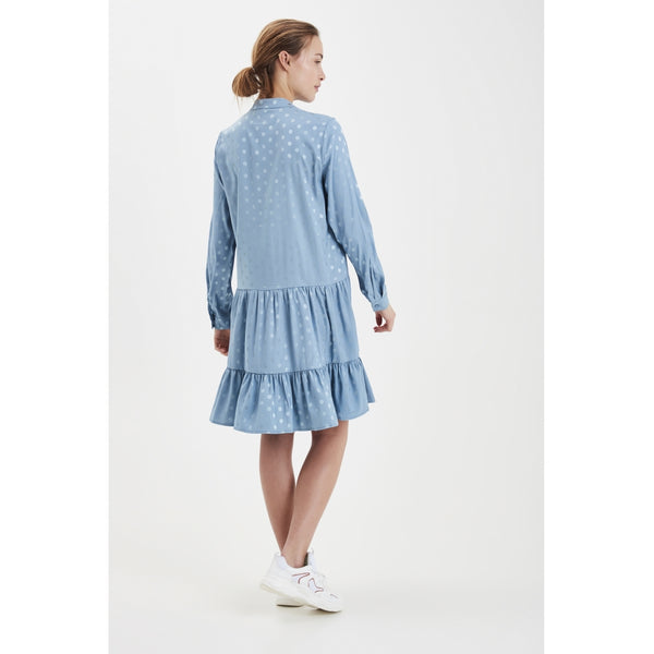 ICHI ICHI dame kjole IXSTRIPY Dress Faded denim