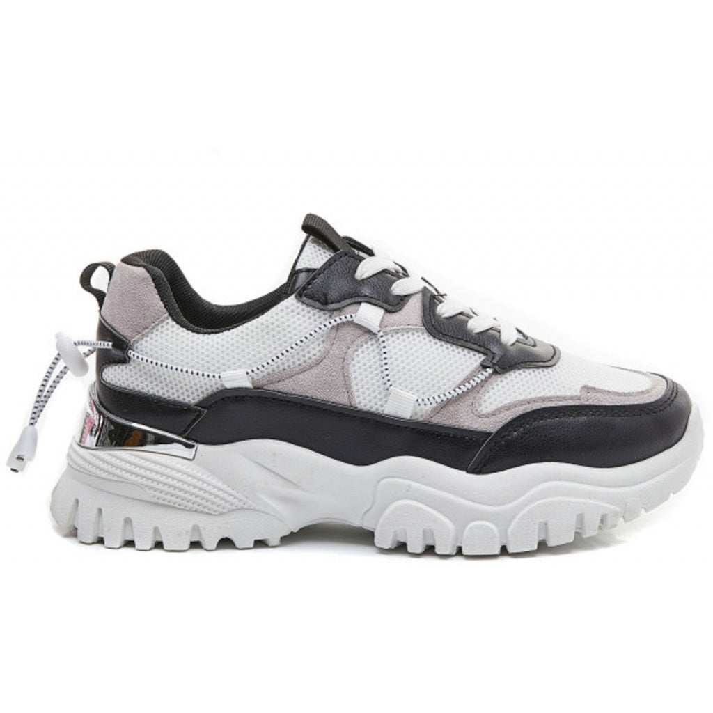 Ideal Shoes Dame Sneakers 5312 - Black