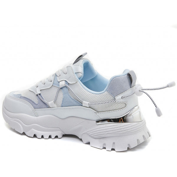Shoes Ideal Shoes Dame Sneakers 5312 Shoes Blue
