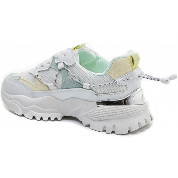 Shoes Ideal Shoes Dame Sneakers 5312 Shoes Green