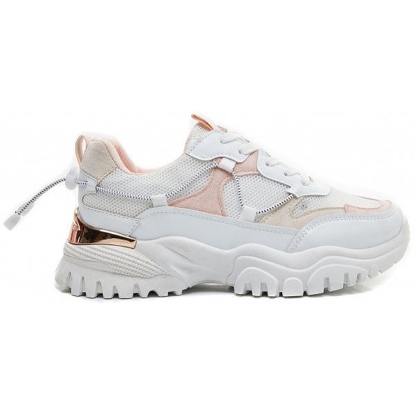 Shoes Ideal Shoes Dame Sneakers 5312 Shoes Pink