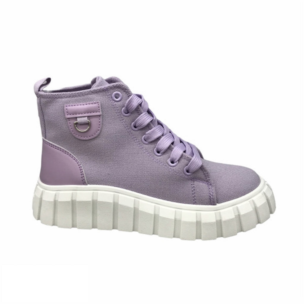 Ideal Shoes Dame Sneakers 7882 - Purple